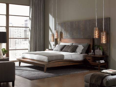 Modern Bedroom Grey Walls Furniture
