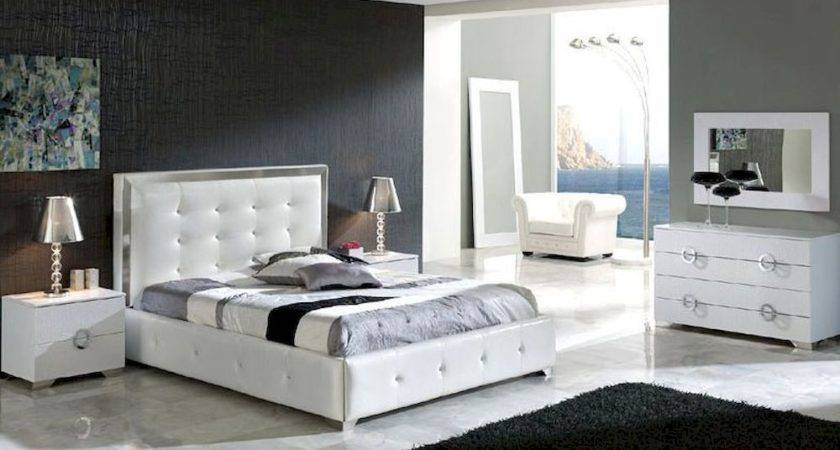 Modern Bedroom Set Valencia White Made Spain