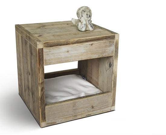 Modern Bloq Pet Bed Doubles Side Table Binq Design