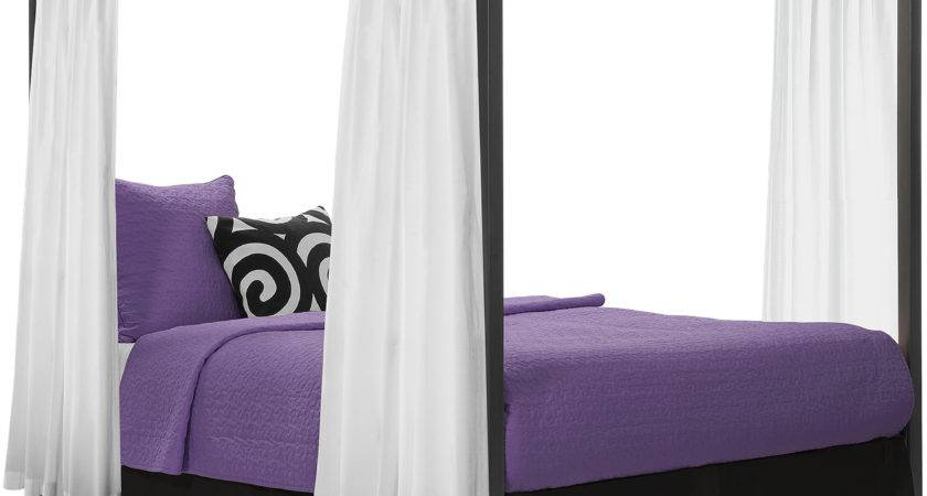 Modern Canopy Queen Metal Bed Multiple Colors