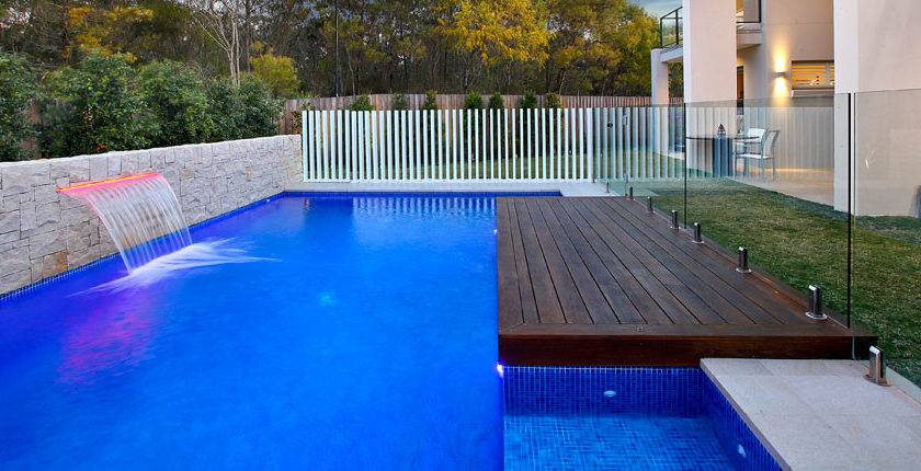 Modern Contemporary Pool Design Space Landscape Designs