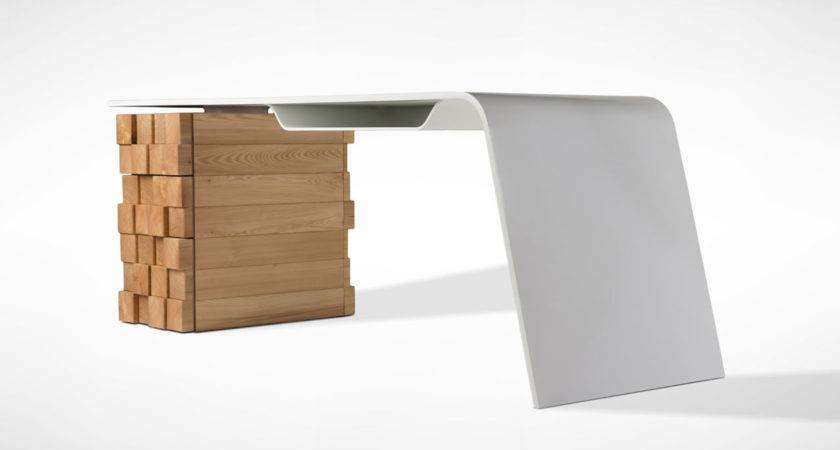 Modern Desk Charges Your Phone Wirelessly Freshome