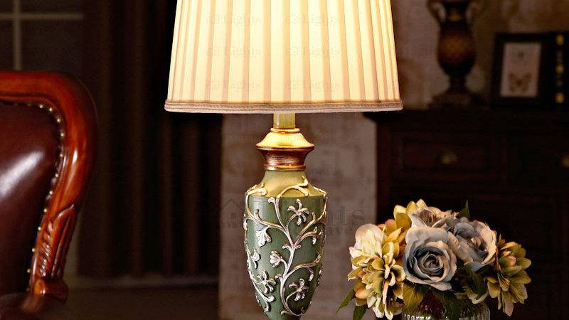 Modern Fabric Shade Living Room Table Lamps