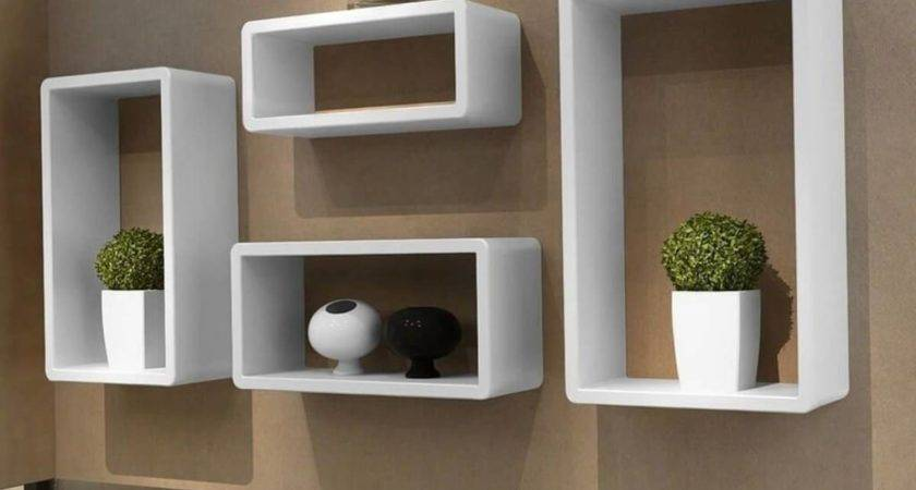 Modern Floating Wall Shelves White Box