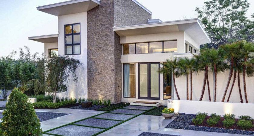 Modern Front Yard Landscaping Planted Ornamental
