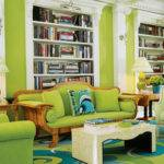 Modern Green Living Room Interior Design