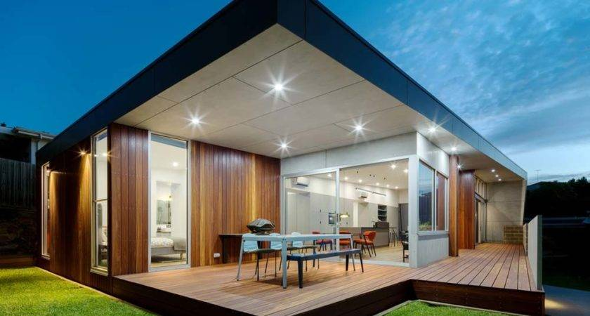 Modern Home Design Massive Triangular Shed Roof