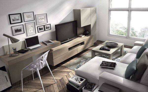 Modern Home Office Layout Contemporary Living Room