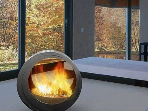 Modern Indoor Outdoor Design Fireplaces Mobile Home