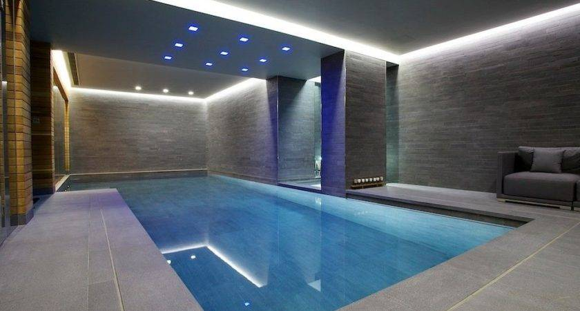 Modern Indoor Pool Contemporary Sconces