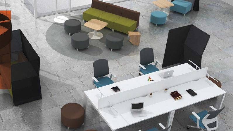 Modern Industrial Open Space Bench Desking Offices