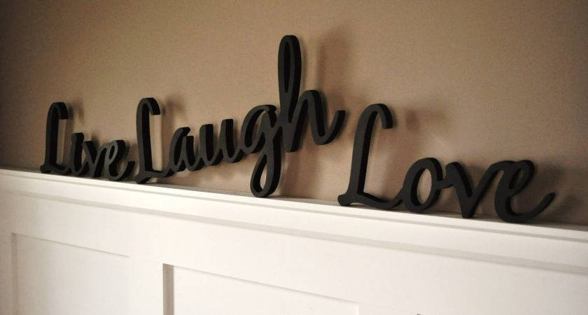 Modern Interior Wooden Word Decorations Walls