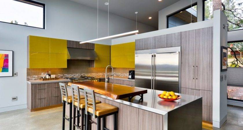 Modern Kitchen Cabinet Materials Green Glass