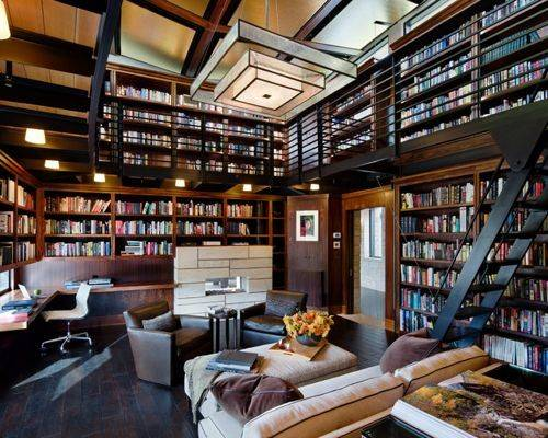 Modern Library Ideas Remodel Decor