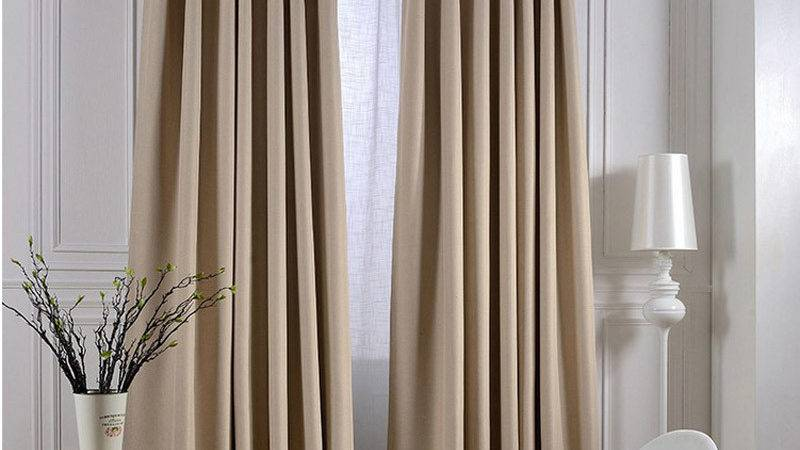 Modern Linen Solid Curtains Living Room Blackout Hotel
