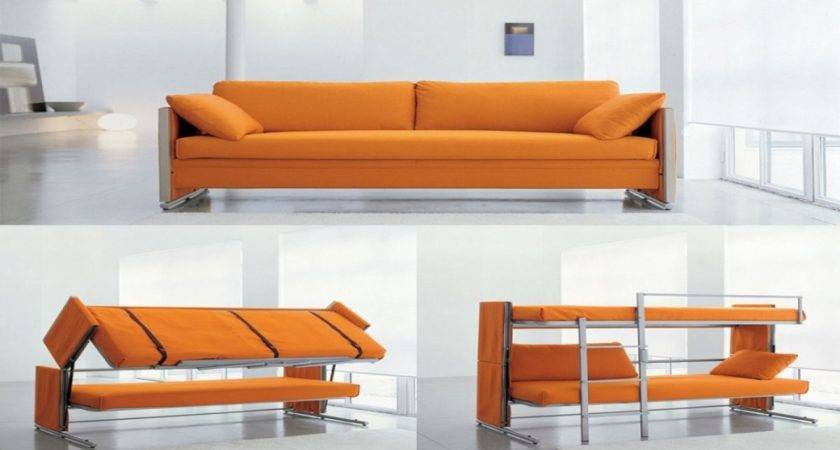 Modern Living Room Design Convertible Couch Bunk Beds