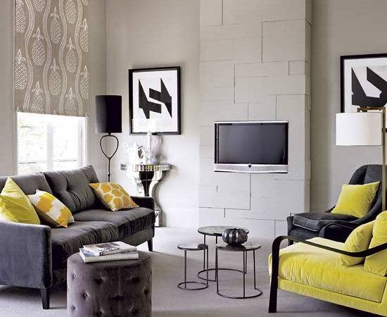 Modern Living Room Grey Color Furniture
