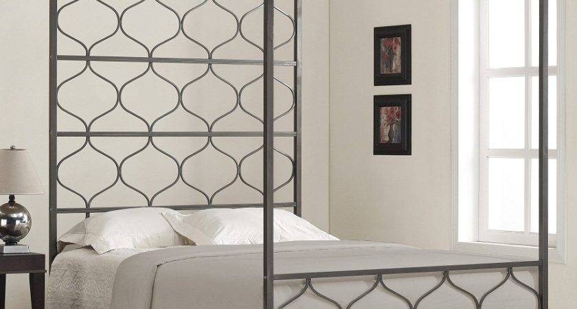 Modern Metal Canopy Beds Top Awesome Decor Queen