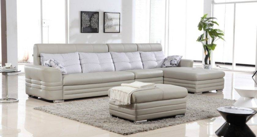 Modern New Design Leather Corner Sofa Set