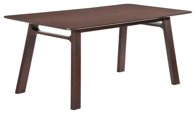 Modern Rectangular Dining Table Solid Wood