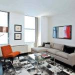 Modern Rental Apartment Living Room Seating Furniture
