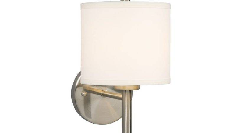 Modern Sconce Wall Light White Shade Brushed