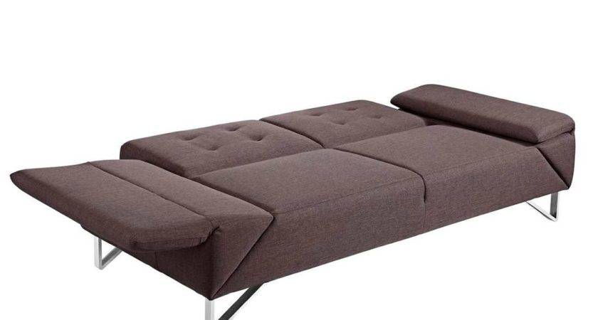 Modern Sofa Sleeper Brown Fabric Beds
