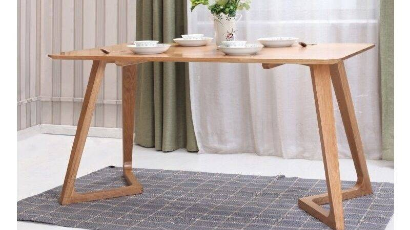 Modern Solid Wood Dining Table Four Chairs Set