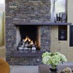 Modern Stone Fireplace Design Ideas Designs