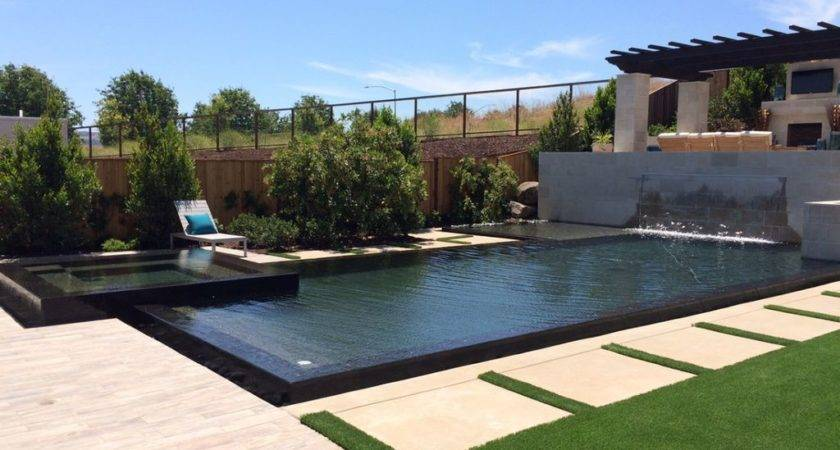 Modern Swimming Pool Pathway Hot Tub
