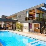 Modern Two Level Pool House Los Angeles Cheerful