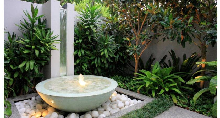 Modern Water Features Small Gardens Home Dignity