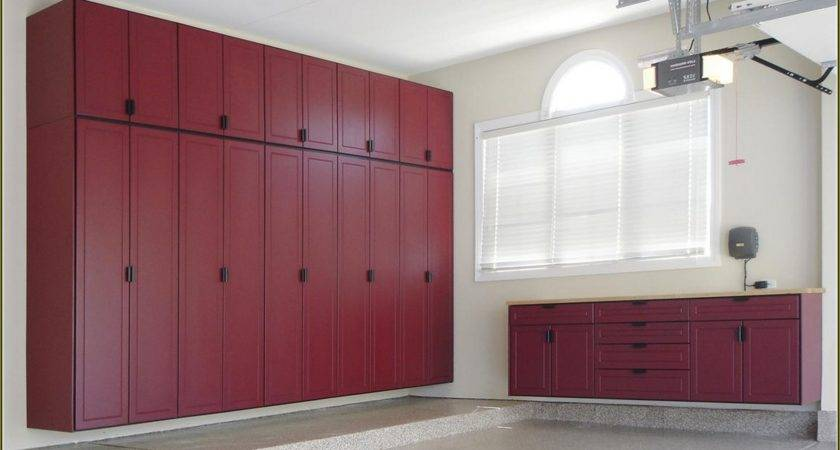 Modern White Cool Garage Cabinet Ideas Can Applied