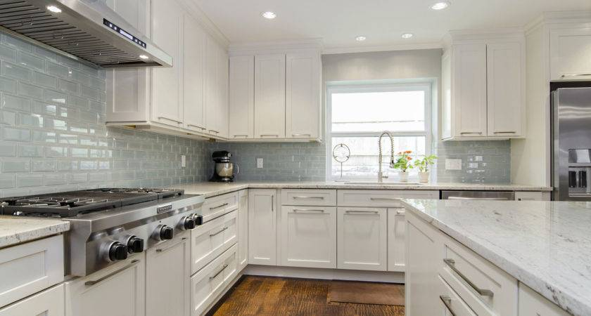 Modern White Granite Kitchen Backsplash Ideas
