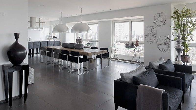 Modern White Gray Apartment Interior Design