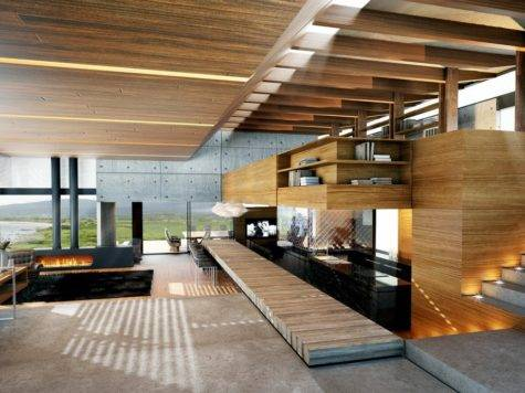 Modern Wood Concrete Interior Design Ideas