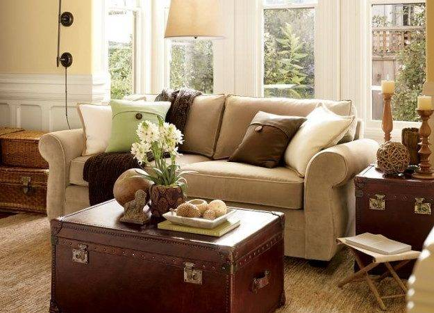 Modernizing Eclecticizing Pottery Barn Living Room