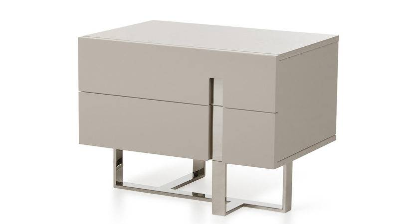 Modrest Voco Modern Grey Nightstand Nightstands Bedroom
