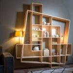 Modular Shelf Contemporary Oak Frisco Hugues Weill