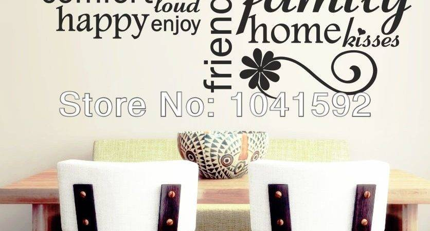 Mordens Love Words Vinyl Wall Phrase Stickers Home Decor