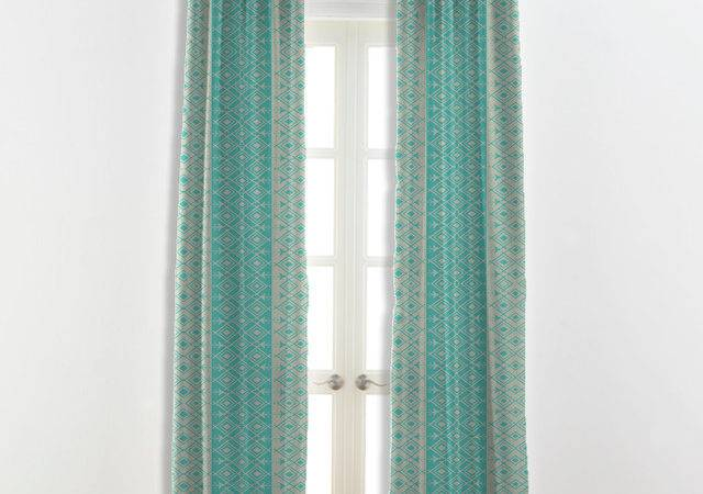 Moroccan Curtains Turquoise White Other Colors