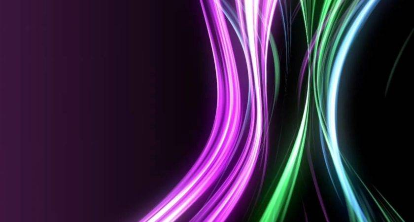 Moving Neon Rays Cool Color Tones Youtube