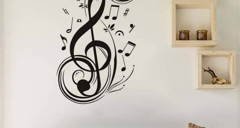 Musical Note Home Decor Wall Stickers Music Gifts