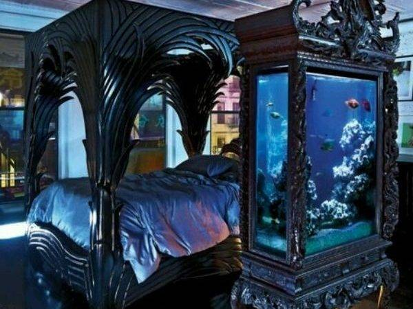 Mysterious Gothic Bedroom Home Design Interior