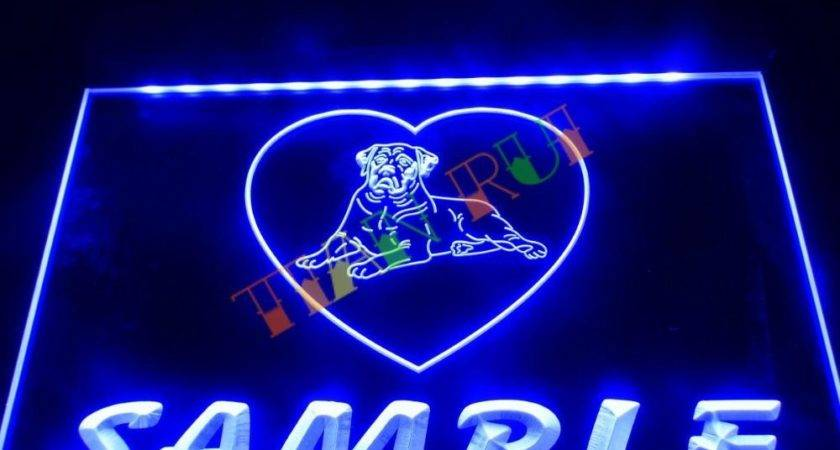 Name Personalized Custom Dog House Home Neon Sign