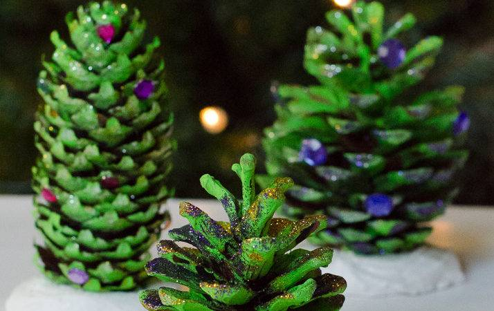Natural Christmas Decorations Pine Cone Trees Growing
