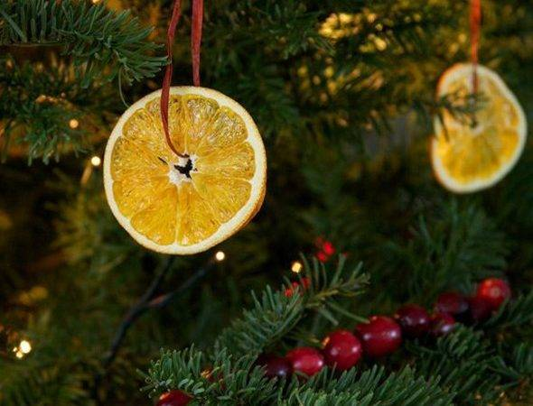 Natural Christmas Tree Decorations Ideas