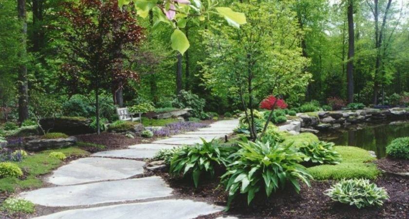 Natural Garden Pathway Hickory Hollow Landscapers