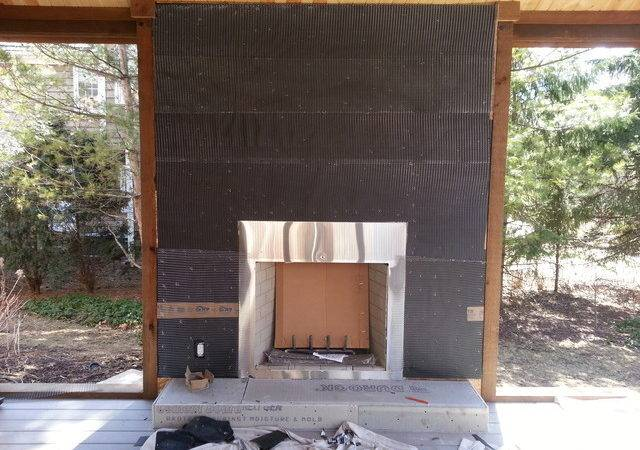 Natural Stone Veneer Fireplace Reface Modern Chicago