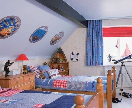 Nautical Boys Bedrooms Boat Shaped Shelving